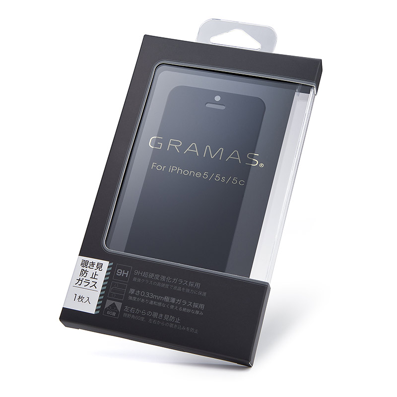 GRAMAS EXTRA Privacy Glass 180° GEXIP5PH for iPhone SE / 5s / 5c / 5 イメージ③